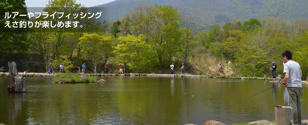 ルアーやフライフィッシング、えさ釣りが楽しめます。